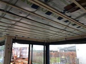 Dakisolatie - nieuwbouw - platdak - met cellulose vlokken te Geel