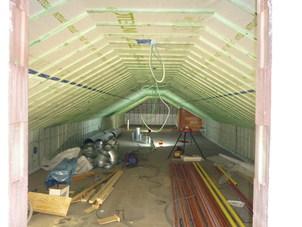 Dakisolatie - nieuwbouw - met cellulose vlokken te Schelle